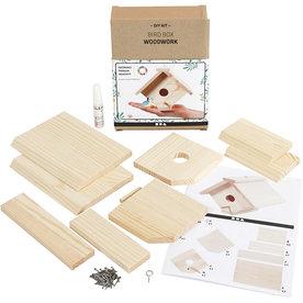 Knutselset Vogelhuis knutselen van hout