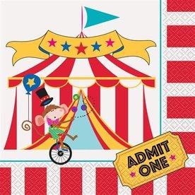 servetten circusfeestje