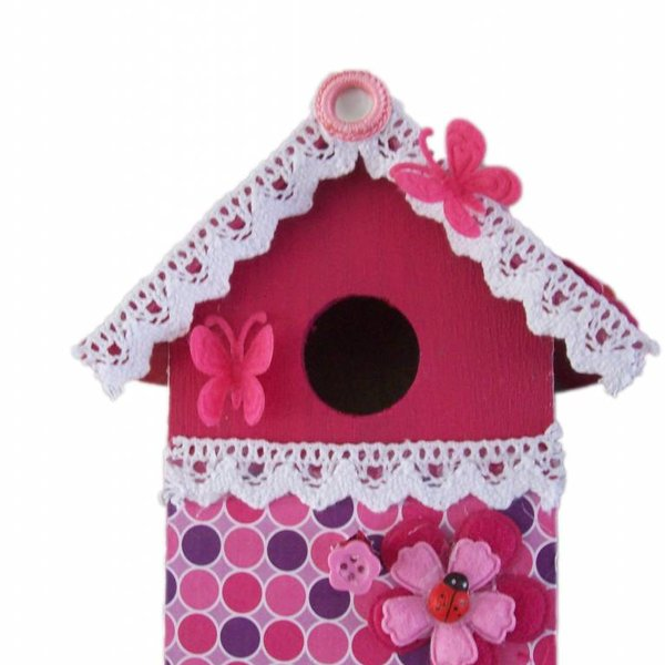 knutselpakket vogelhuisje maken