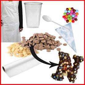 knutselpakket chocoladeletters maken