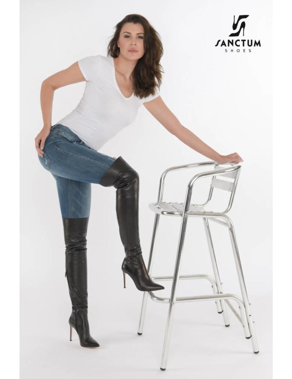 Sanctum  Olga in Hoge leren Italiaanse laarzen