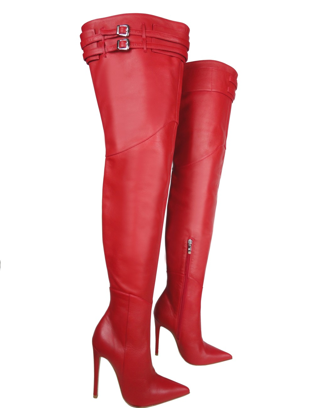 CQ for Sanctum Extra high Italian thigh boots with belts