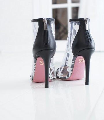 Yarose Shulzhenko Designer transparent ankle boots