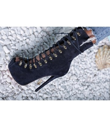 Yarose Shulzhenko Designer lace ankle boots with zipper