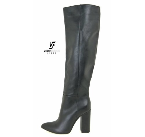 Sanctum  DBL100 - ITALIAN KNEE BOOTS  NERO VITELLO