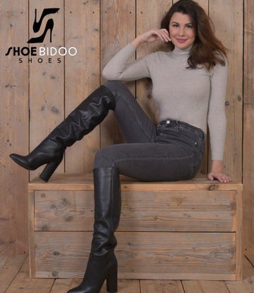 Sanctum  Long pull on knee boots with high heels