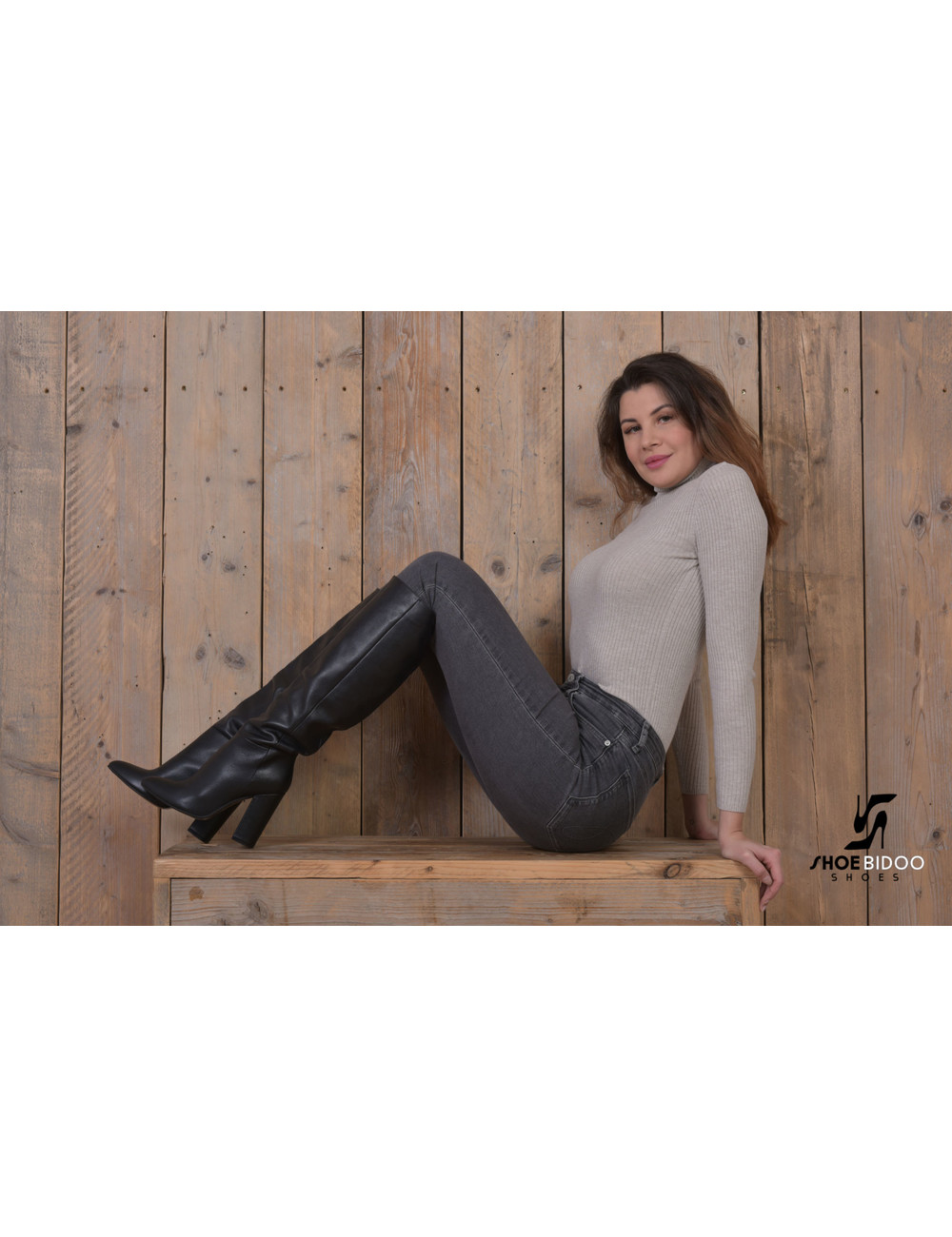 Sanctum Shoes Long pull on knee boots with high heels