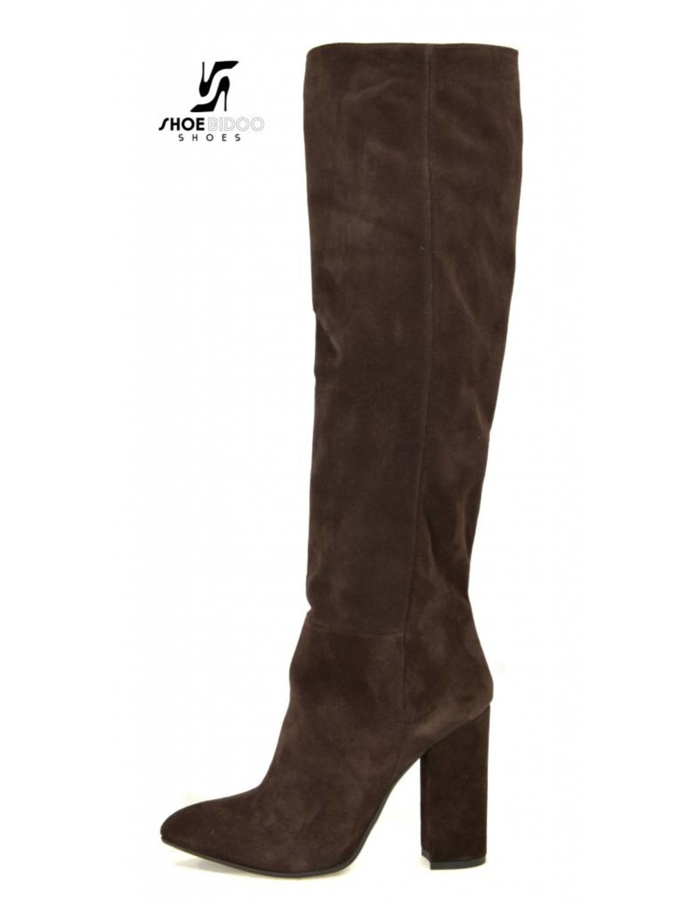 Sanctum  Long pull on knee boots with high heels in suede