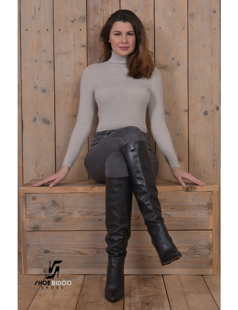 Sanctum Custom Olga in Italian leather knee boots