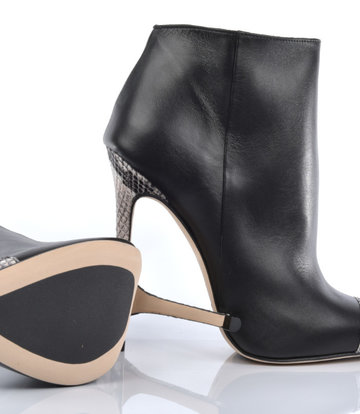 Sanctum  High Italian ankle boots VESTA with python stiletto heels in real leather