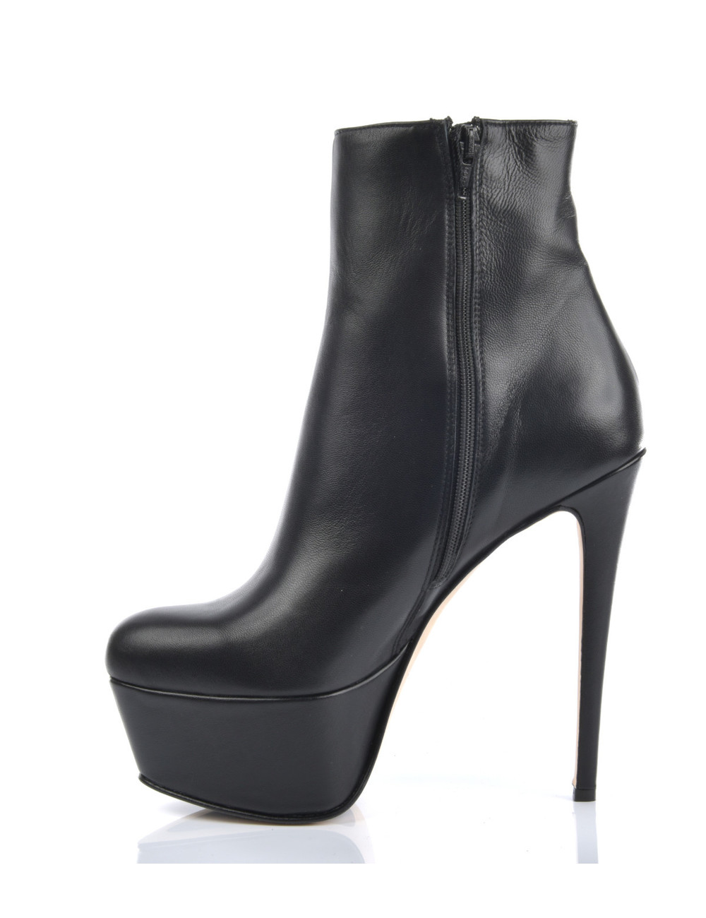 Sanctum  High Italian ankle boots with platform heels in real leather
