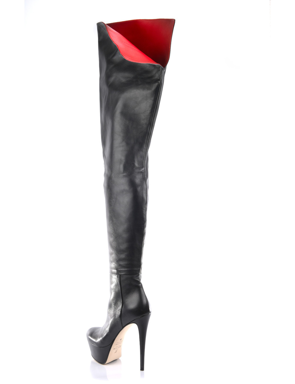 Sanctum  High Italian crotch boots ISIS with platform heels in real leather