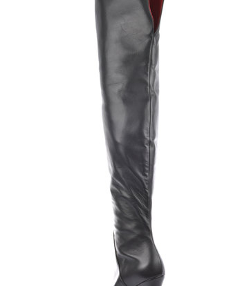 Sanctum  High Italian thigh boots ISIS with platform heels in real leather