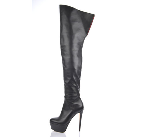 Sanctum Custom CUSTOM ISIS THIGH BOOTS BLACK NAPPA