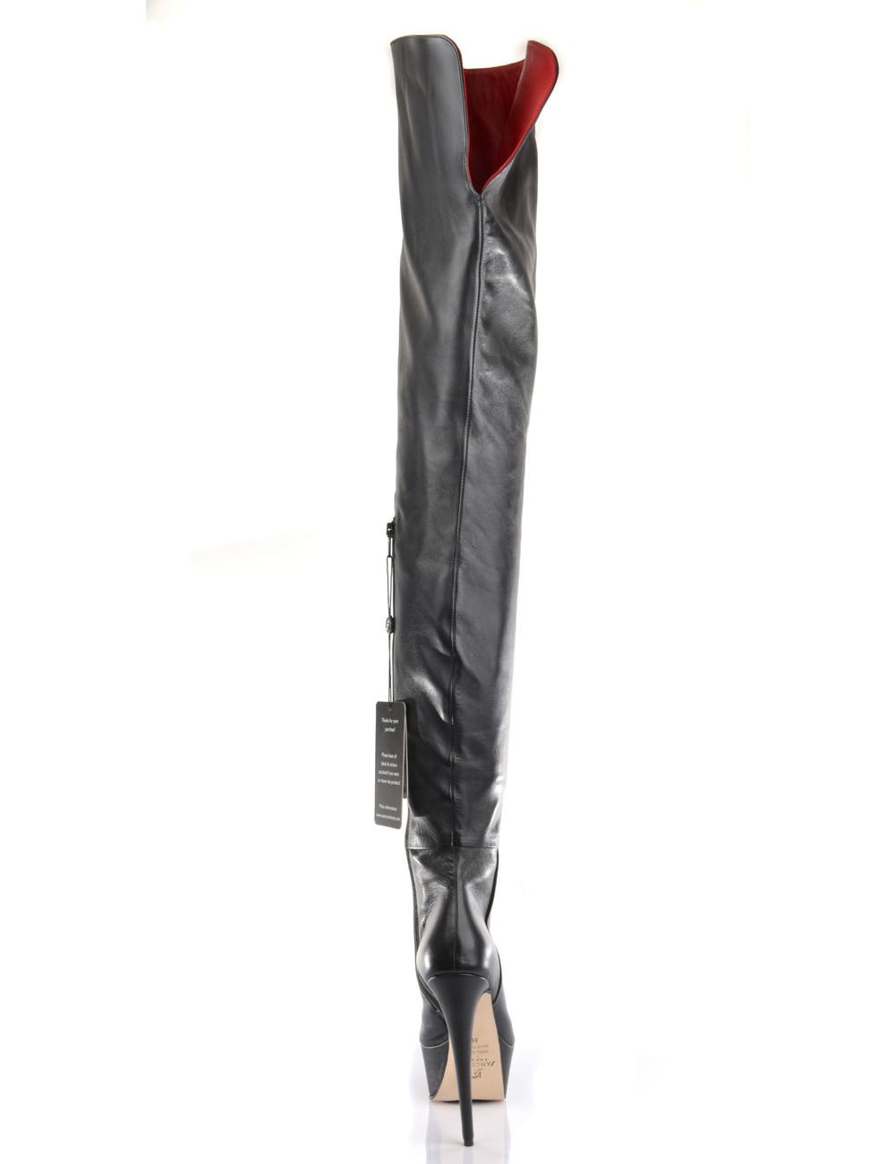 Sanctum Custom Custom High Italian crotch boots ISIS with platform heels in real leather