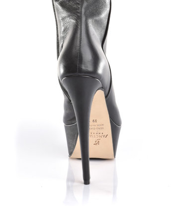 Sanctum  Custom High Italian crotch boots ISIS with platform heels in real leather