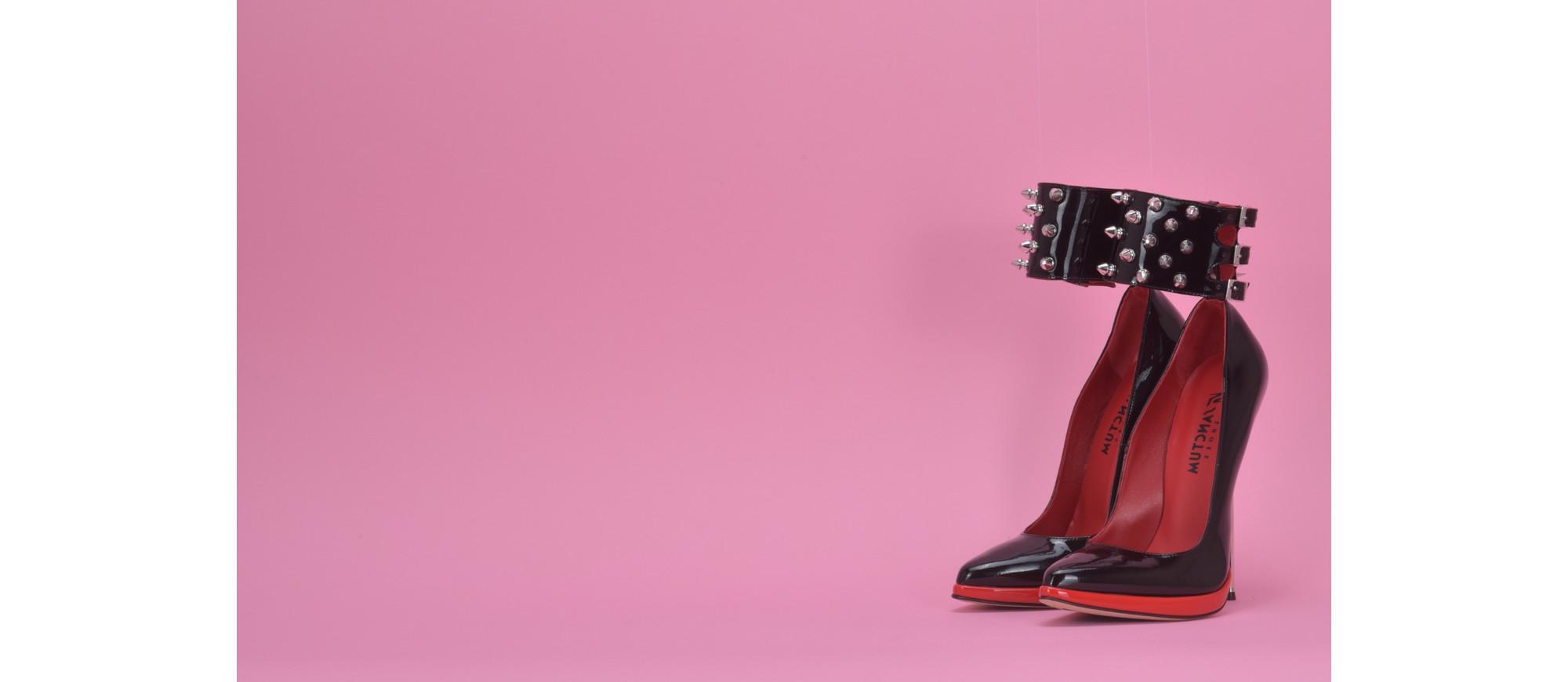 Italian metal heel pumps