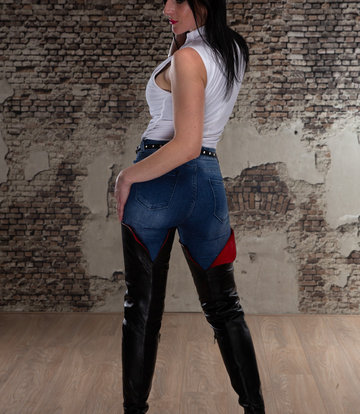 Sanctum  Anita in crotch high ISIS boots