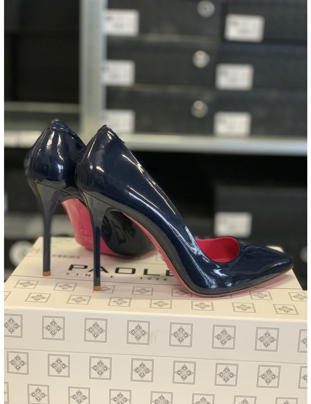 Paoletti Paoletti pumps real leather blue pink -outlet