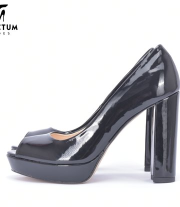 MIA Black Shiny Pumps-P28
