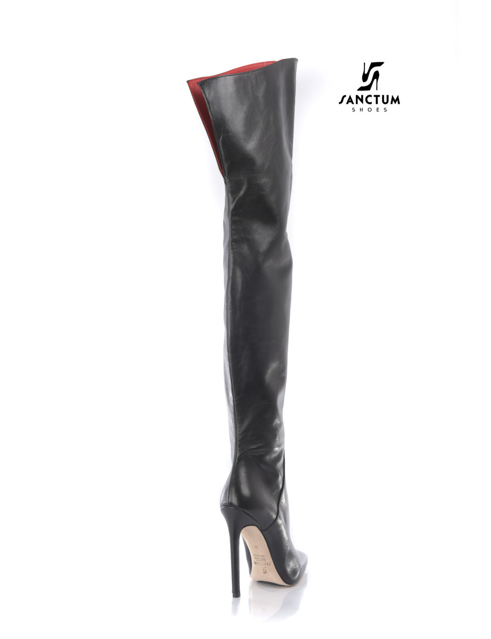 Sanctum  CUSTOM High Italian THIGH boots VESTA with stiletto heels in genuine leather