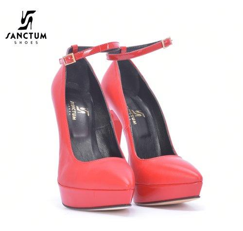 Sanctum  Sanctum Italian Leather Red Pumps Outlet
