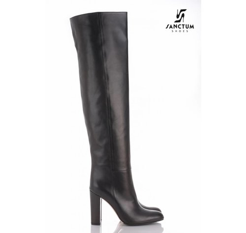 Sanctum  A2831 - OVERKNEE BOOTS BLACK NAPPA-Outlet