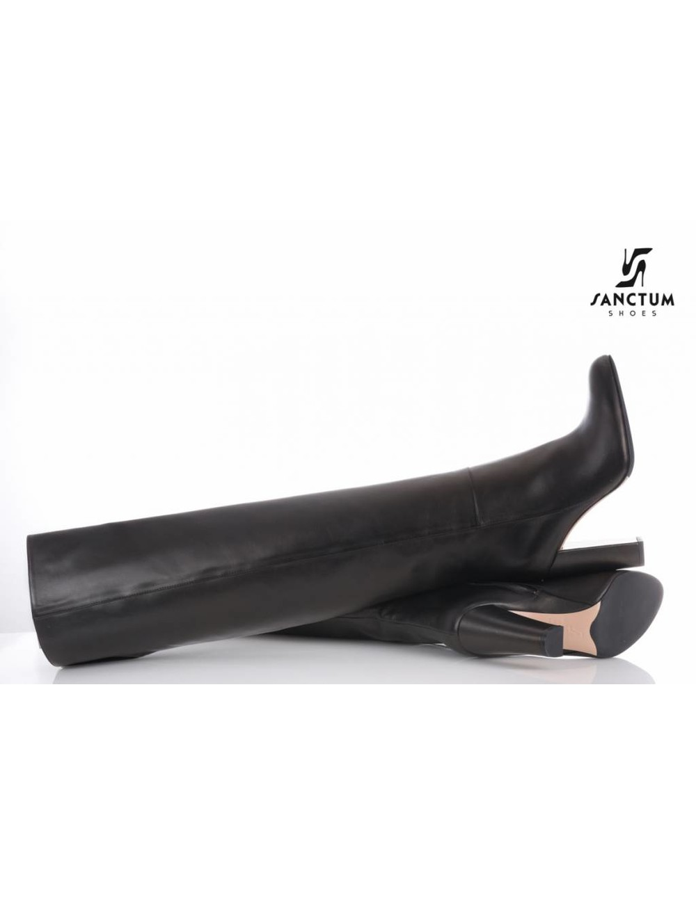 Sanctum  Long thigh high boots with high block heels-Outlet