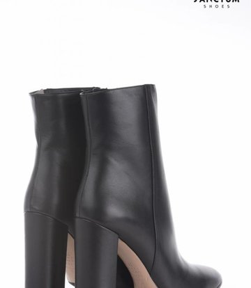 ankle boots heels leather