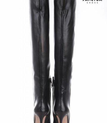 Sanctum  Lange Italiaanse overknee laarzen met dunne hakken