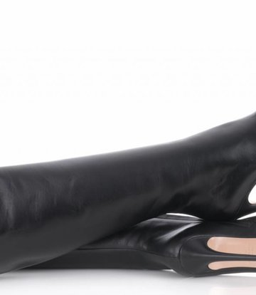 Sanctum  High knee boots with platform heels in real leather