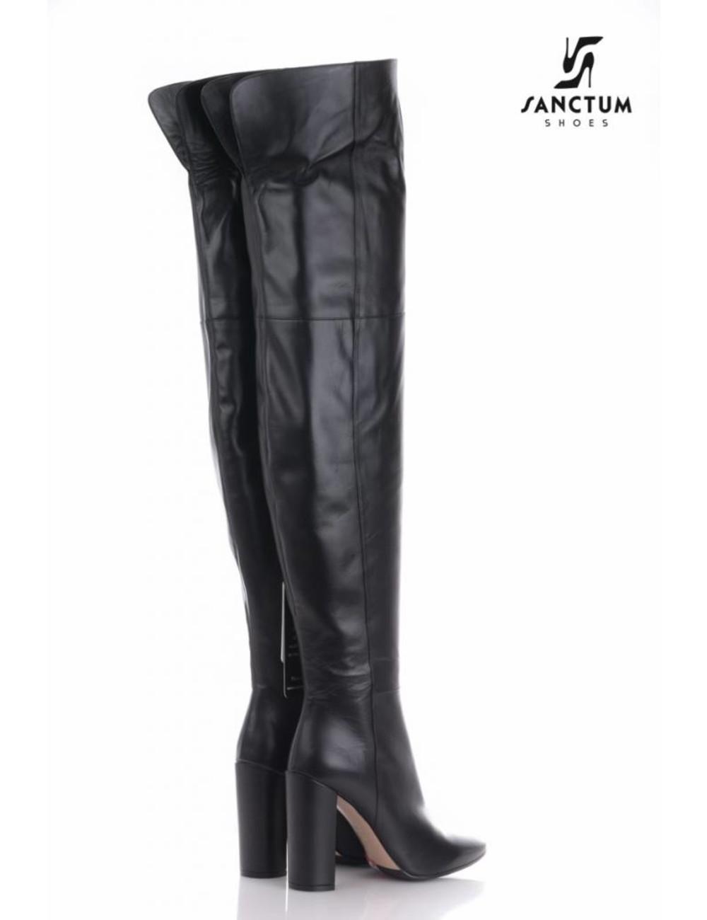 Sanctum  Lange hoge laarzen met hoge blokhakken