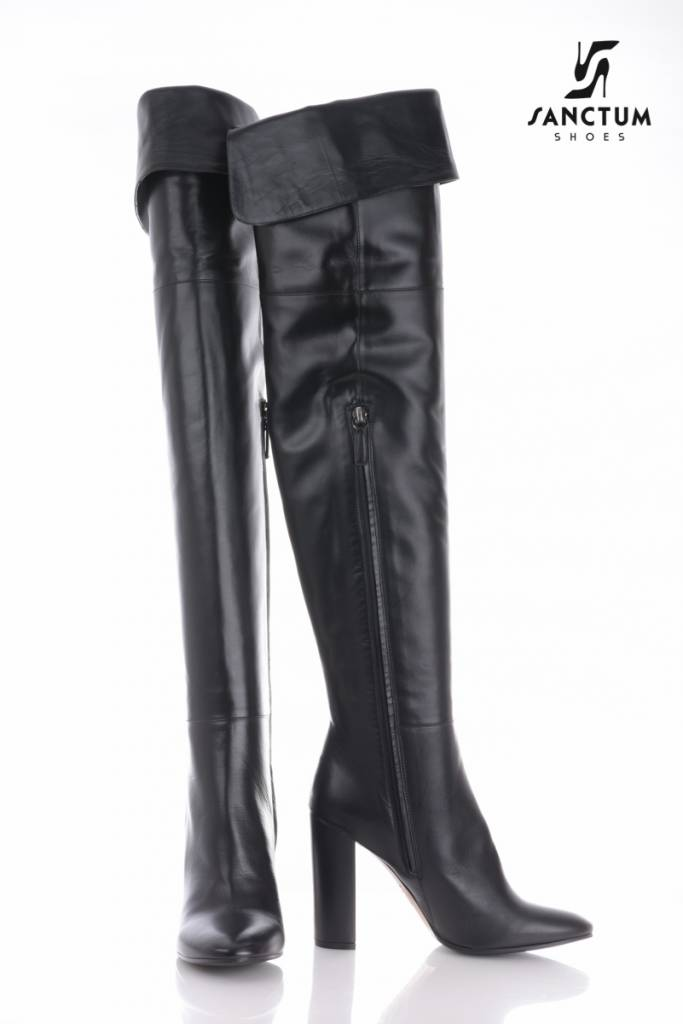 Sanctum  Long Italian high boots with chunky heels