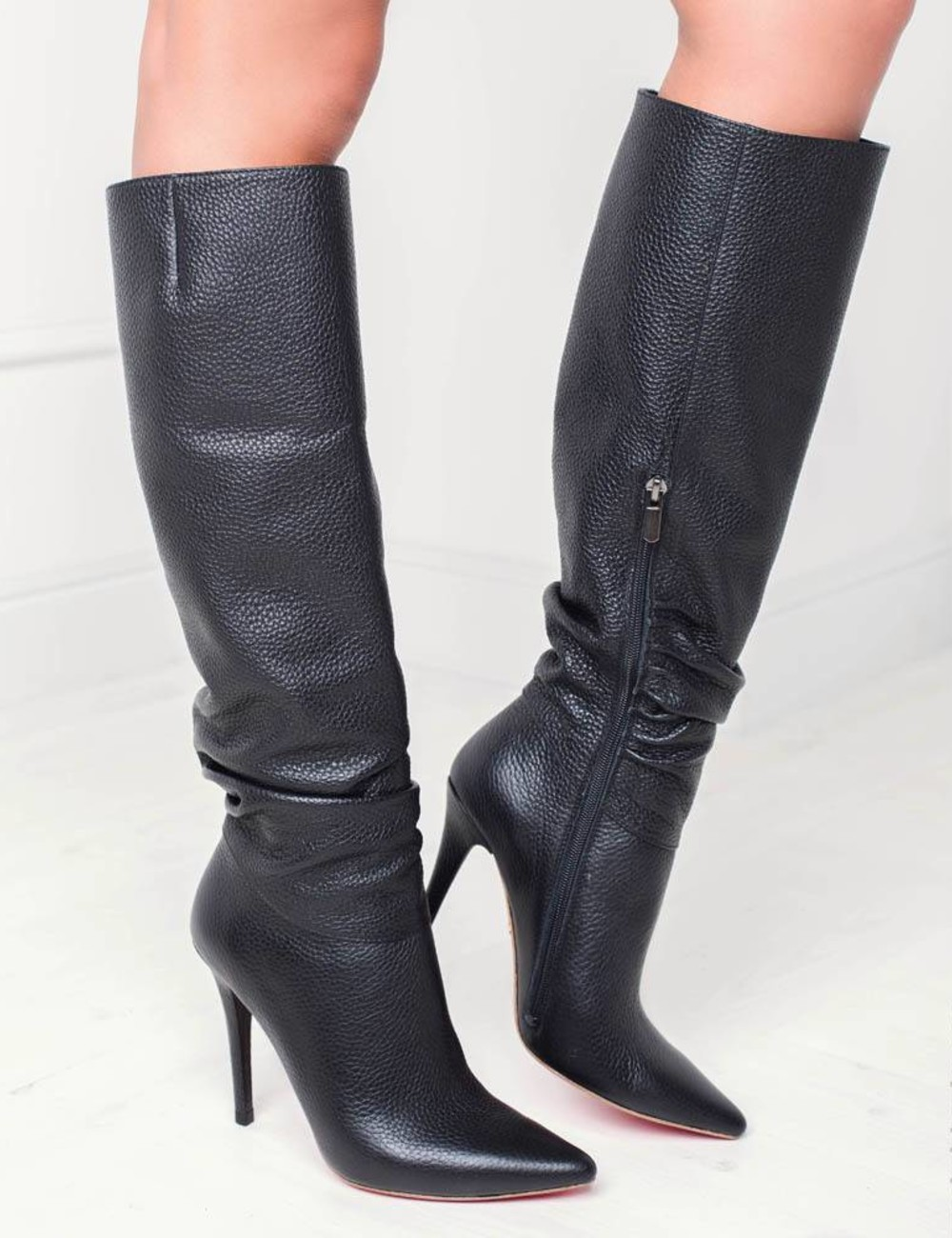 Leather black high boots by Yarose Shulzhenko Check our