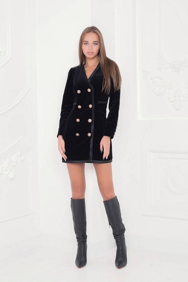 Yarose Shulzhenko Designer black leather knee boots