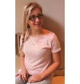 T-shirt met hartjes Roze