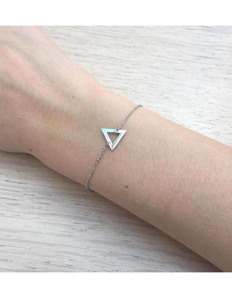 Reed Triangle Bracelet Silver