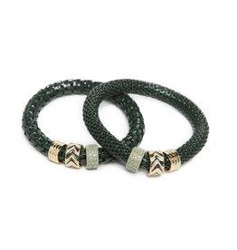 Silis The Snake Strass Frozen Green / Enamel