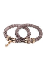 Silis The Snake Strass Tuck me tight Taupe / Leaf Charm