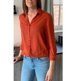 Blouse Roestbruin