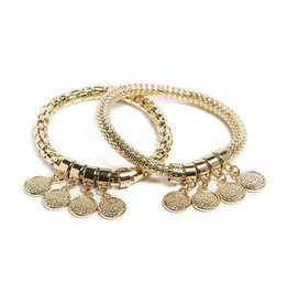 Silis The Snake Strass Gold Out / Shake ur Coins