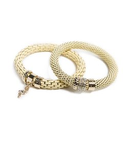 Silis The Snake Strass Yammy Yellow / Flamingo Charm