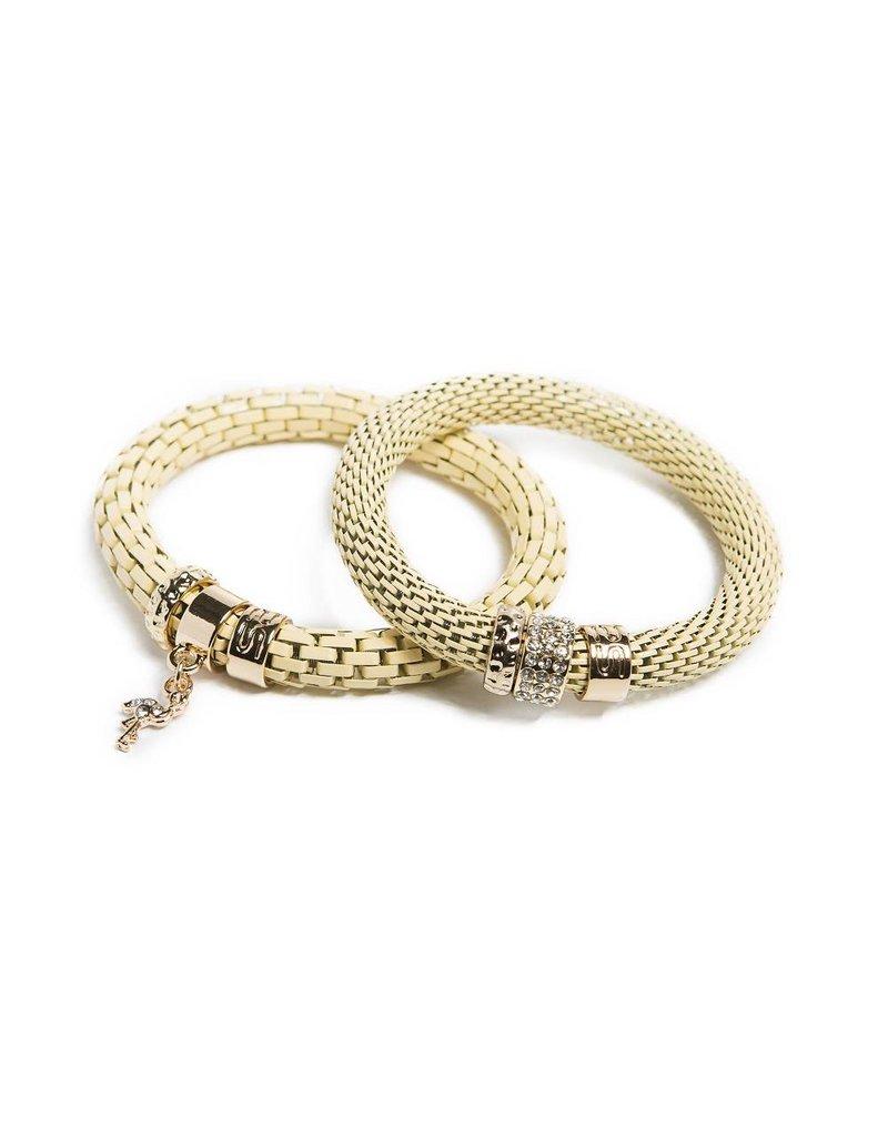 Silis The Snake Strass Yammy Yellow / Flamingo Charm