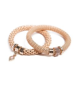 Silis The Snake Strass Apricot Brandy / Diamond Charm