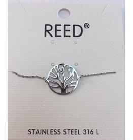 Reed Tree Bracelet Silver