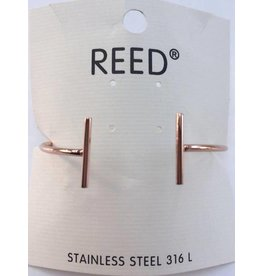 Reed Open Bar Bangle Rosé