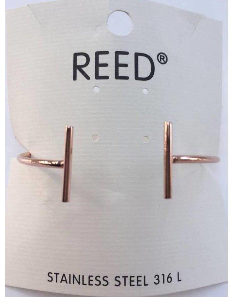 Reed Open Bar Bangle Rosé