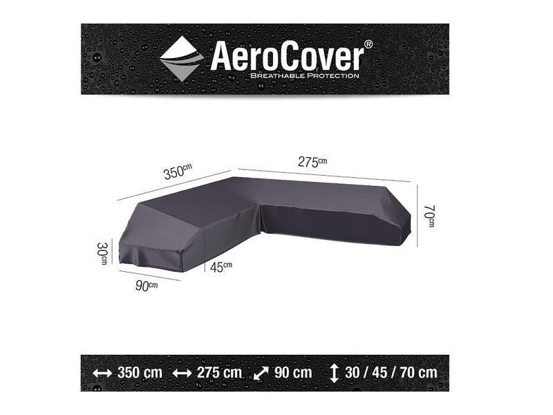 Aerocover Platform loungesethoes 350x275x90x70 cm - RECHTS