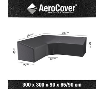 Aerocover L vormige loungesethoes 300x300x90 cm.
