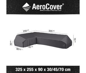 Aerocover L vormige loungesethoes 325x255x70h cm. -  links